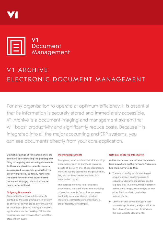 V1 Document Management